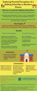 Parental perceptions of a walking school bus